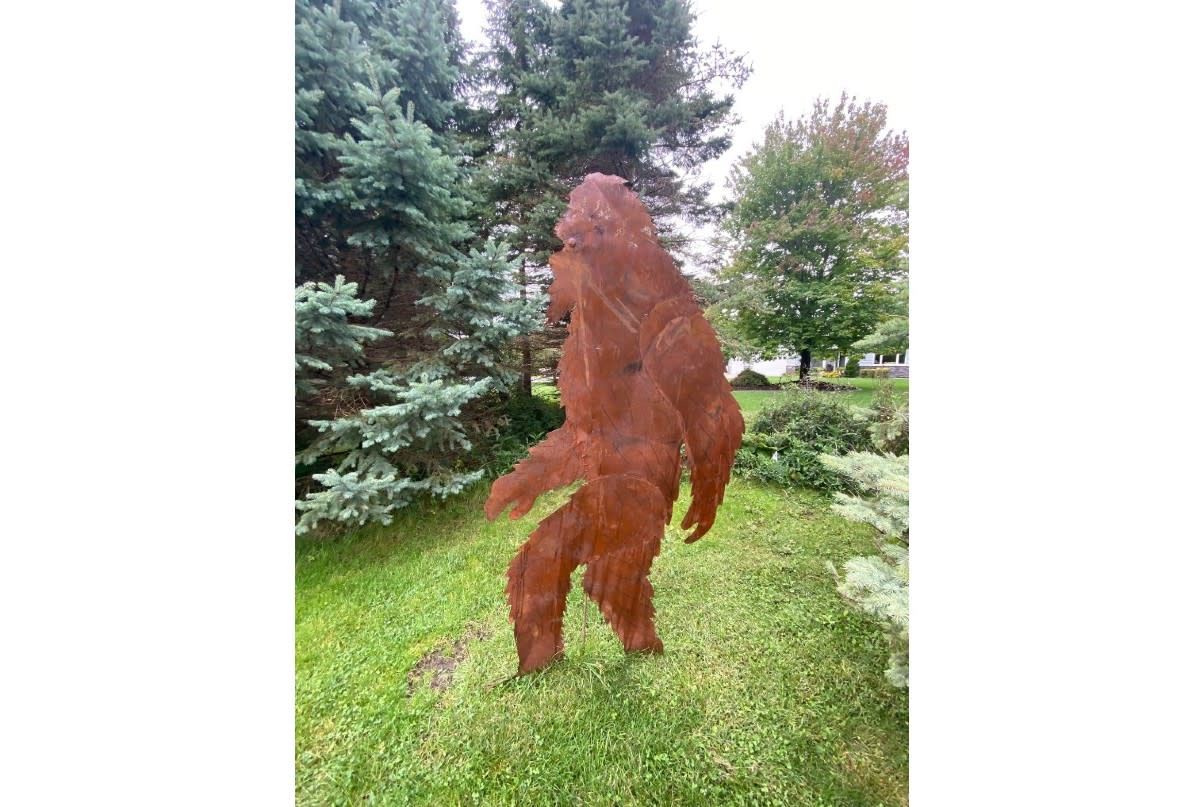 Mrs. Bigfoot statue, which looks similar to the Mr. Bigfoot statue that was stolen.