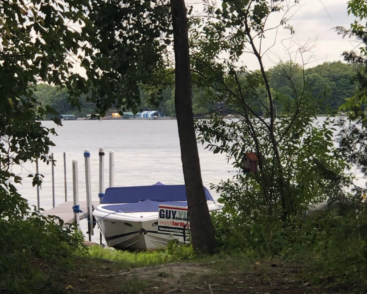 The seasonal dock that is the subject of a state Supreme Court case involving the City of Shorewood and four residents.