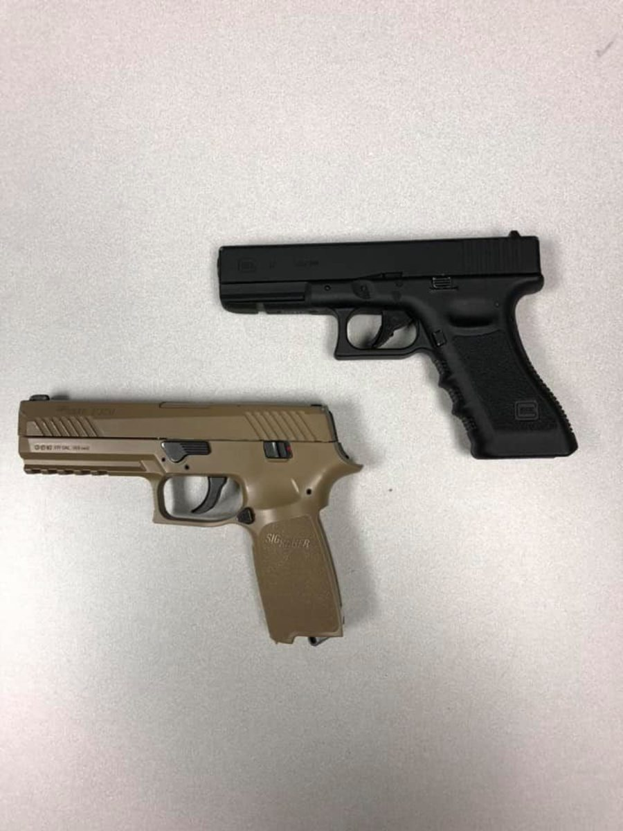 Replica handguns recovered from 10/2/20 Cub Foods incident.