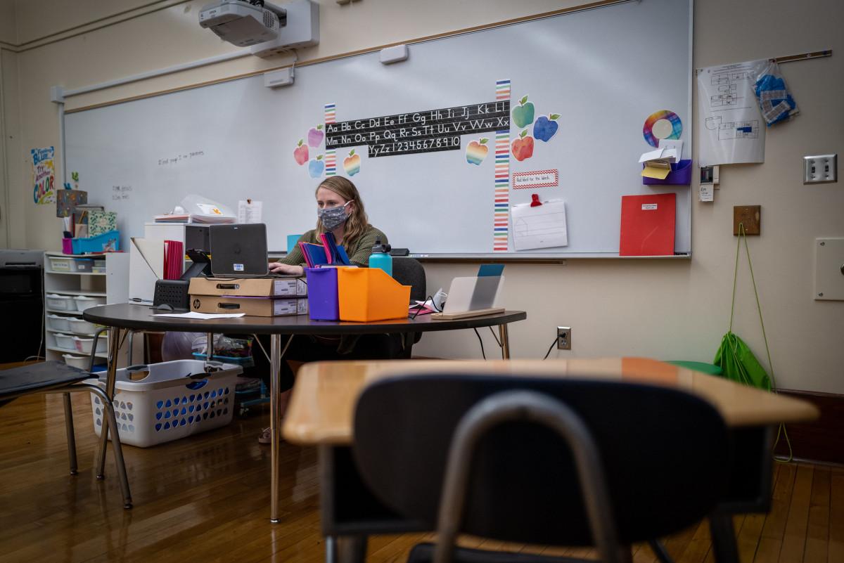 teacher, coronavirus, covid-19, school, classroom