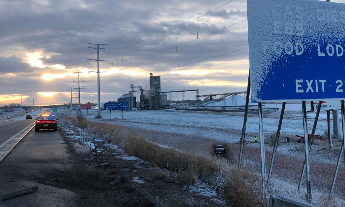 crash, state patrol, icy roads