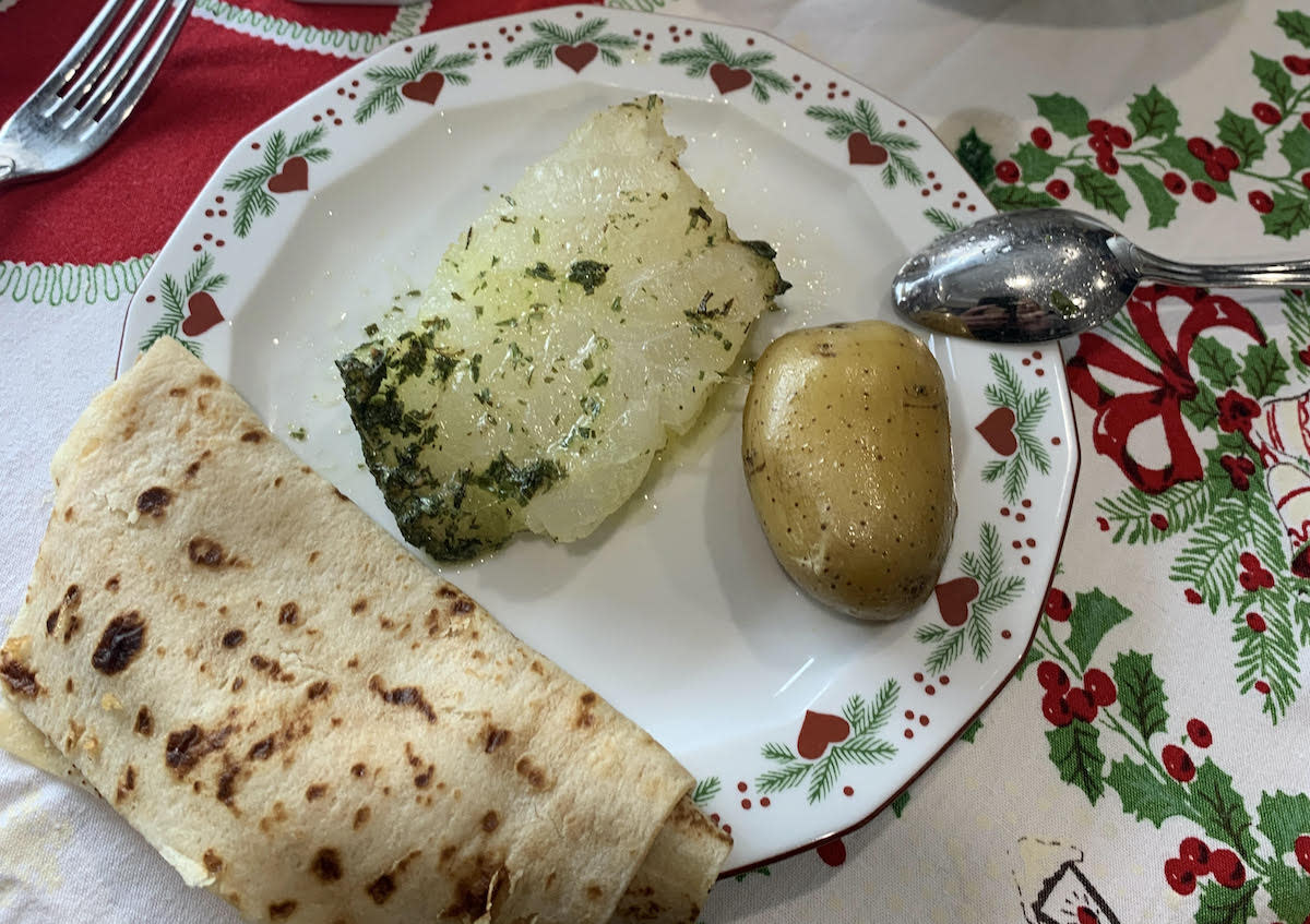 Lutefisk, lefse and potatoes – a common Scandinavian meal eaten by Minnesotans at Christmastime.