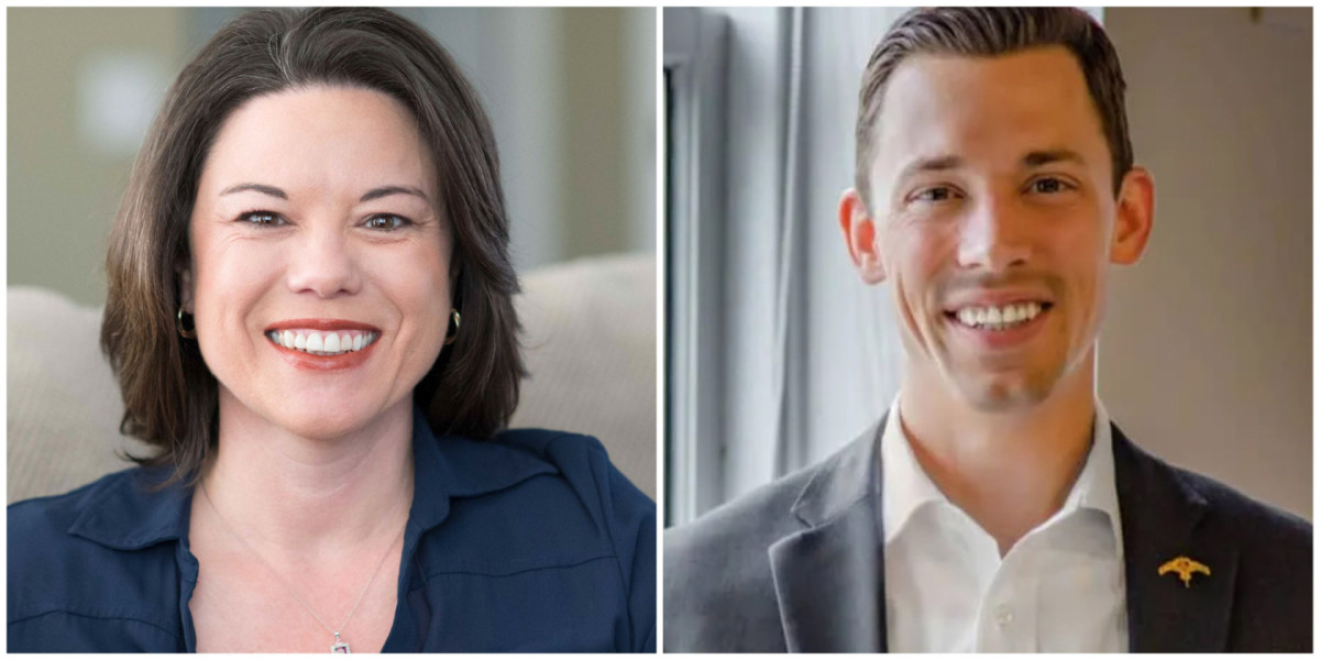 Rep. Angie Craig and Tyler Kistner