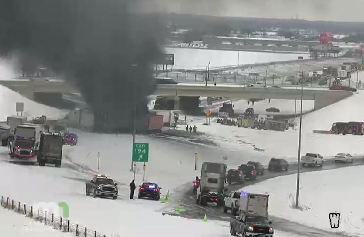 The crash site at 10:32 a.m.