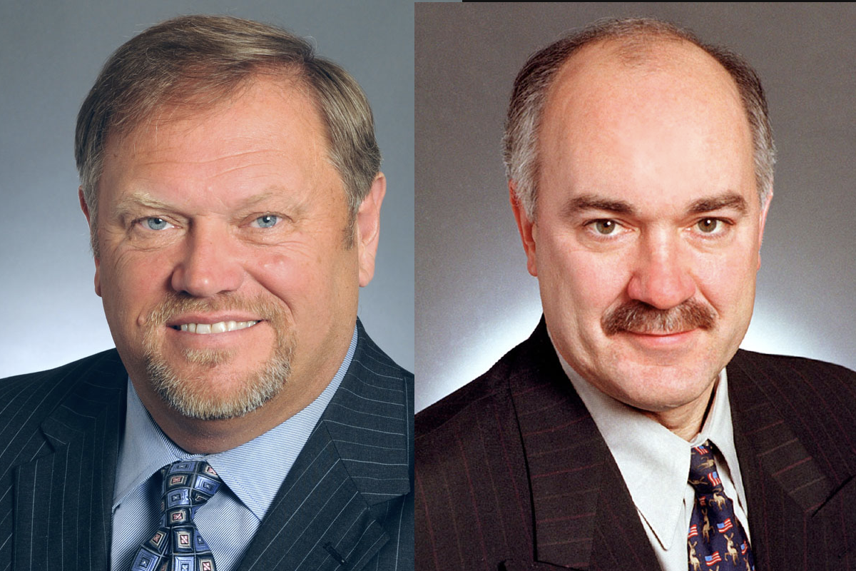 Sen. Tom Bakk of Cook, left, and Sen. David Tomassoni of Chisholm.