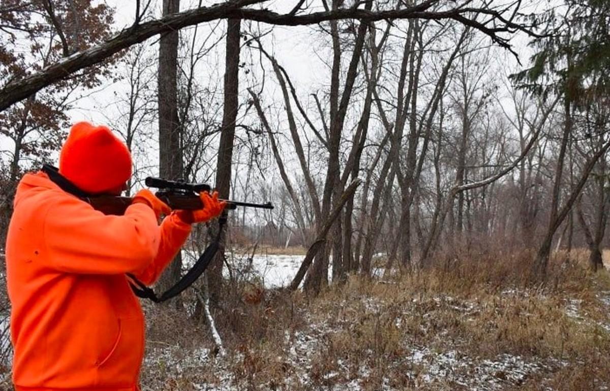 Deer hunting blaze orange