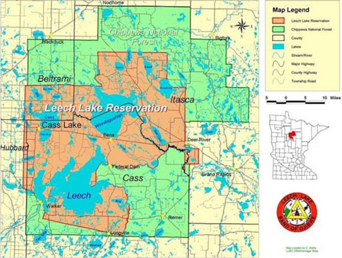 leech lake - chippewa forest map