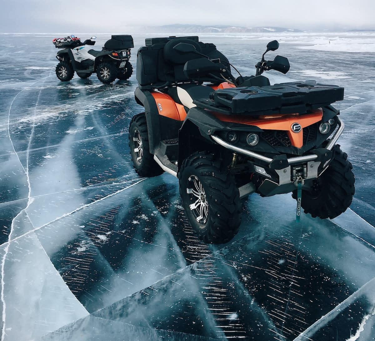 ATV winter snow ice