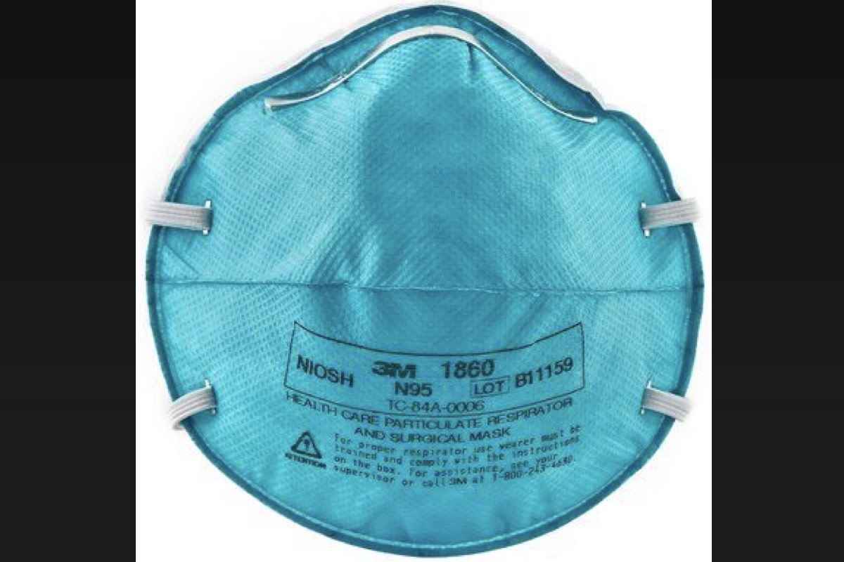 An authentic 3M N95 respirator mask.