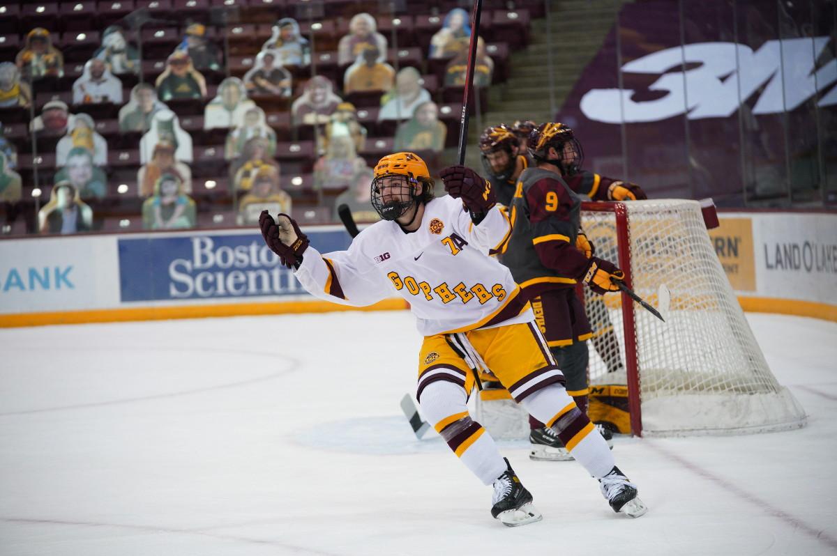 Brannon McManus, Gopher hockey