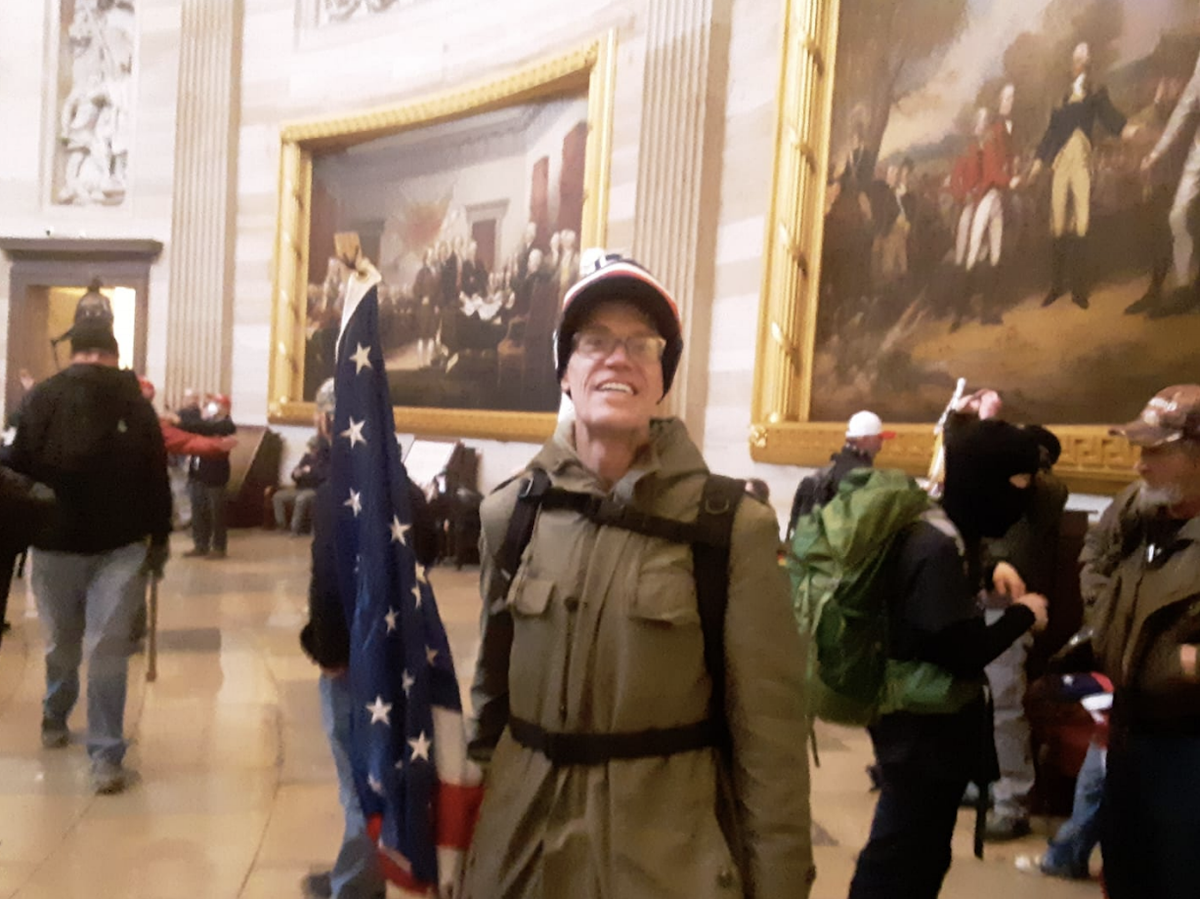 Federal court documents included a photo Kevin Loftus shared on social media of him inside the U.S. Capitol on Jan. 6.