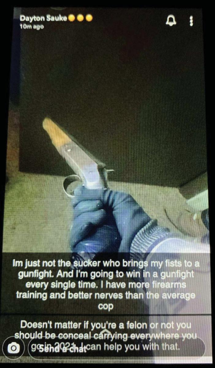 A Snapchat post on Jan. 5.