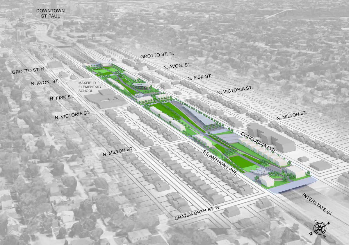 Reconnect Rondo's proposed land bridge in St. Paul.