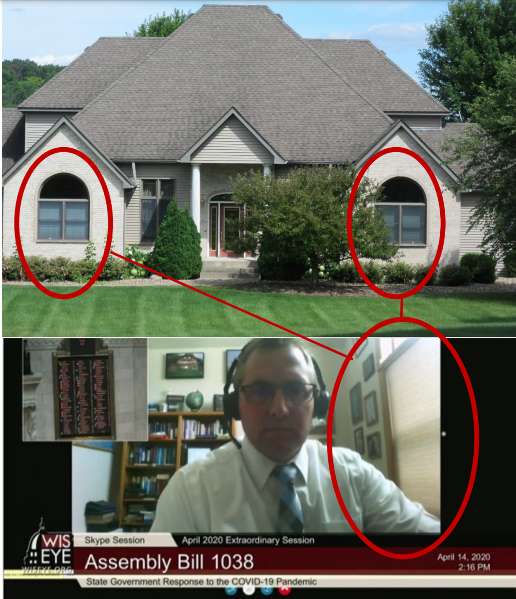 One of the complaints includes photos of Zimmerman appearing on video with windows consistent with the Clifton house