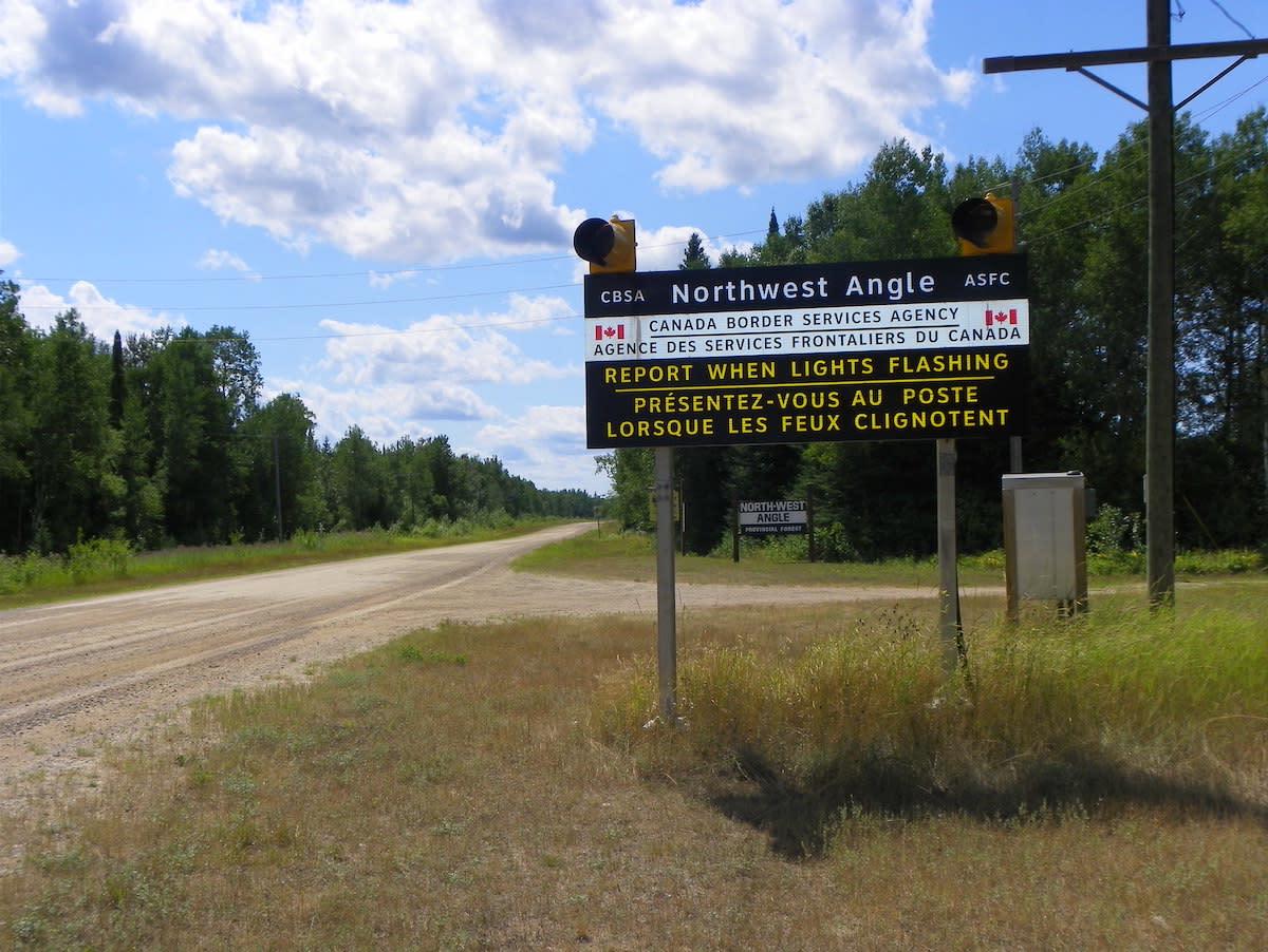 Northwest Angle Canada border
