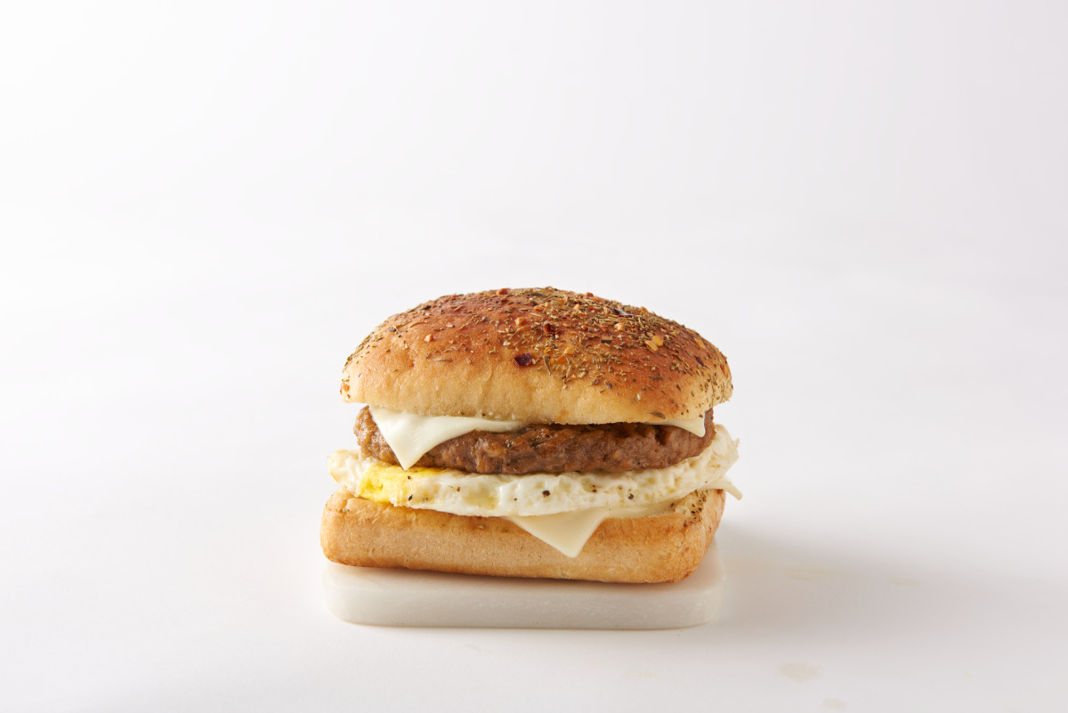 Caribou Coffee's new Beyond Meat breakfast sandwich, which is available starting March 4.