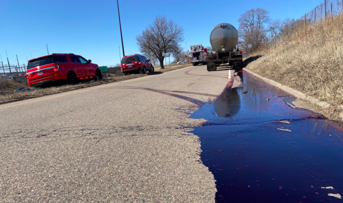Blood spill on I-494