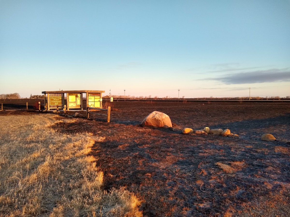 Fire-scorn land at Glacial Ridge National Wildlife Refuge Kiosks, three miles south of U.S. Highway 2 on State Highway 23.