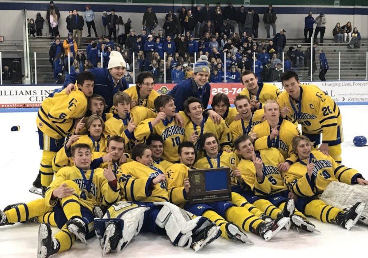 high school hockey (St. Cloud Cathedral 2020)