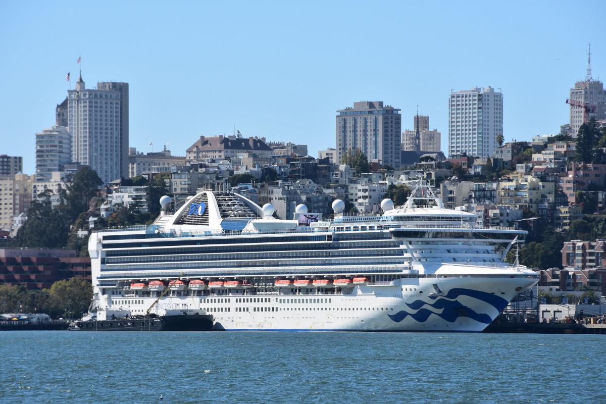 The Grand Princess cruise ship in San Francisco.