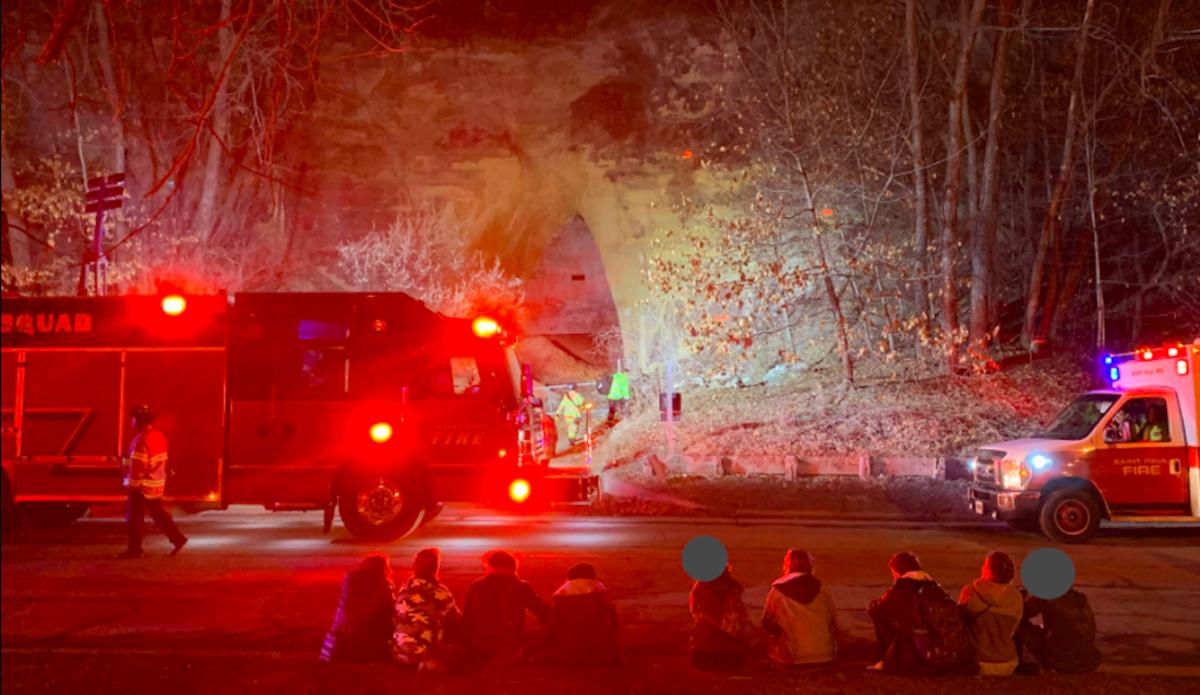 Cave rescue in Crosby Farm Regional Park.