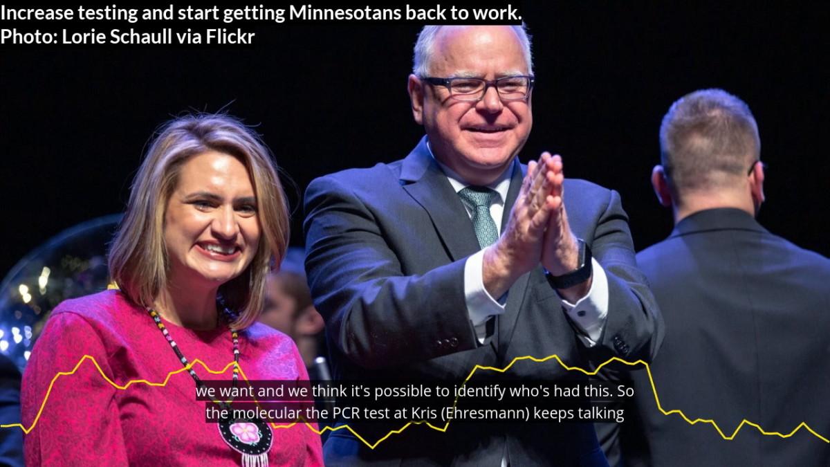 Walz: Ramp up testing, start getting Minnesotans back to work
