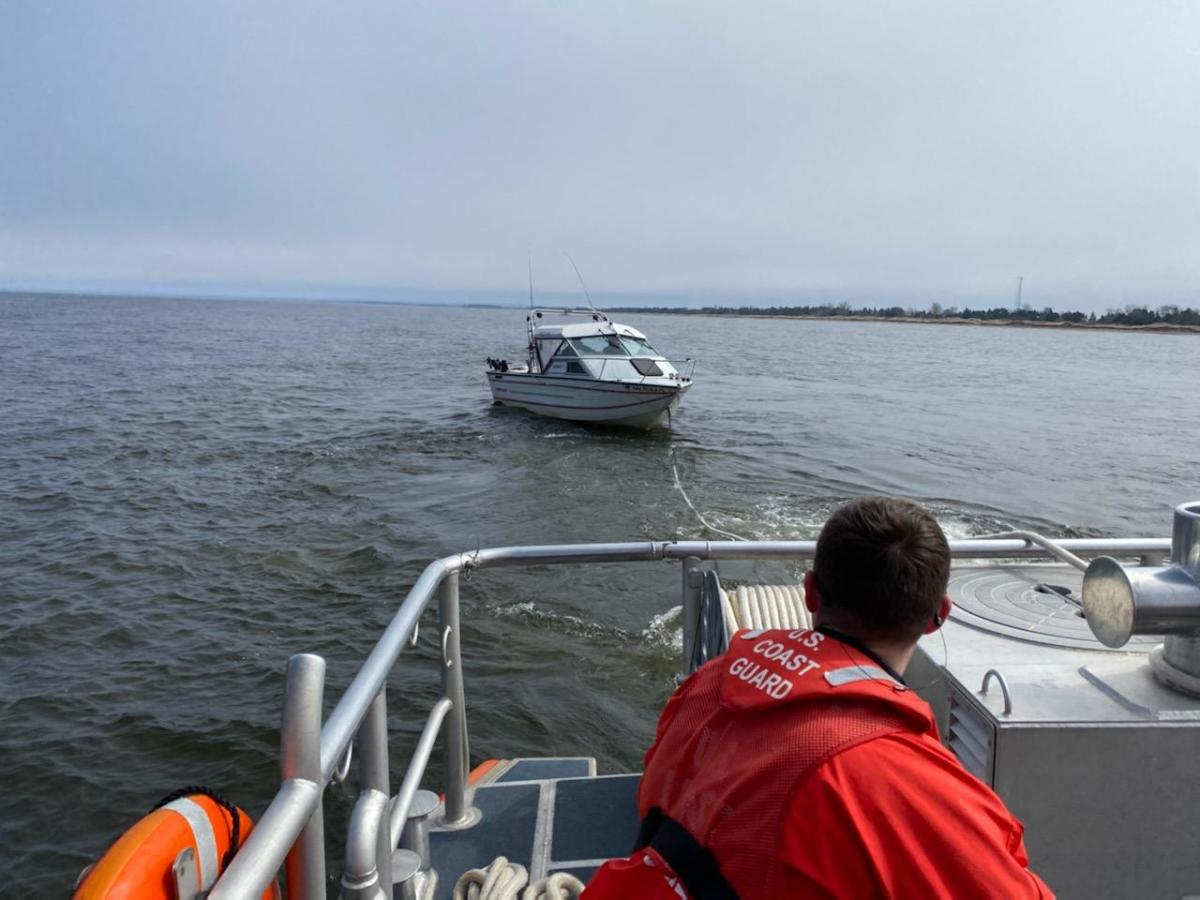The Coast Guard towed the boat to Rice's Point Landing.