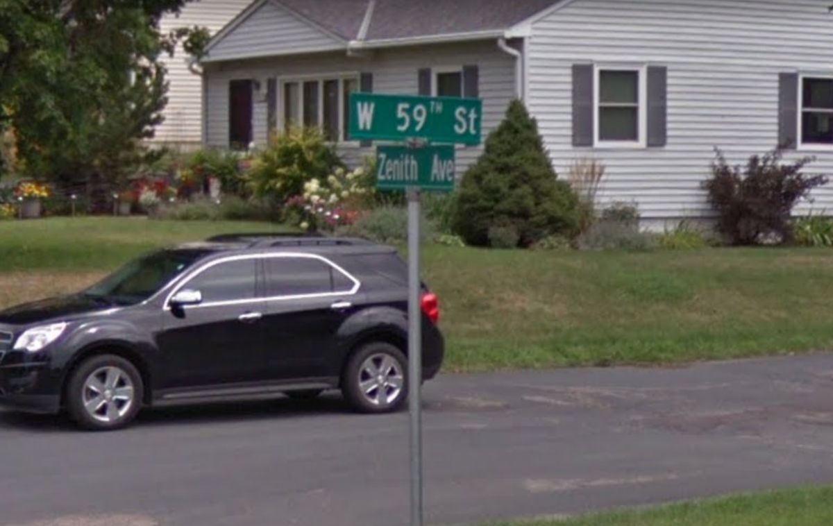 Image from Google Maps of the intersection near where the collision occurred.