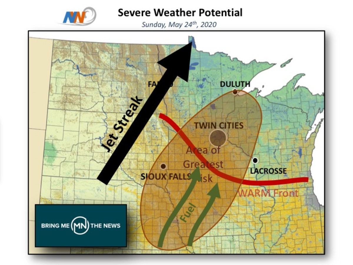 Tom Novak of Novak Weather is watching the threat of severe storms Sunday.
