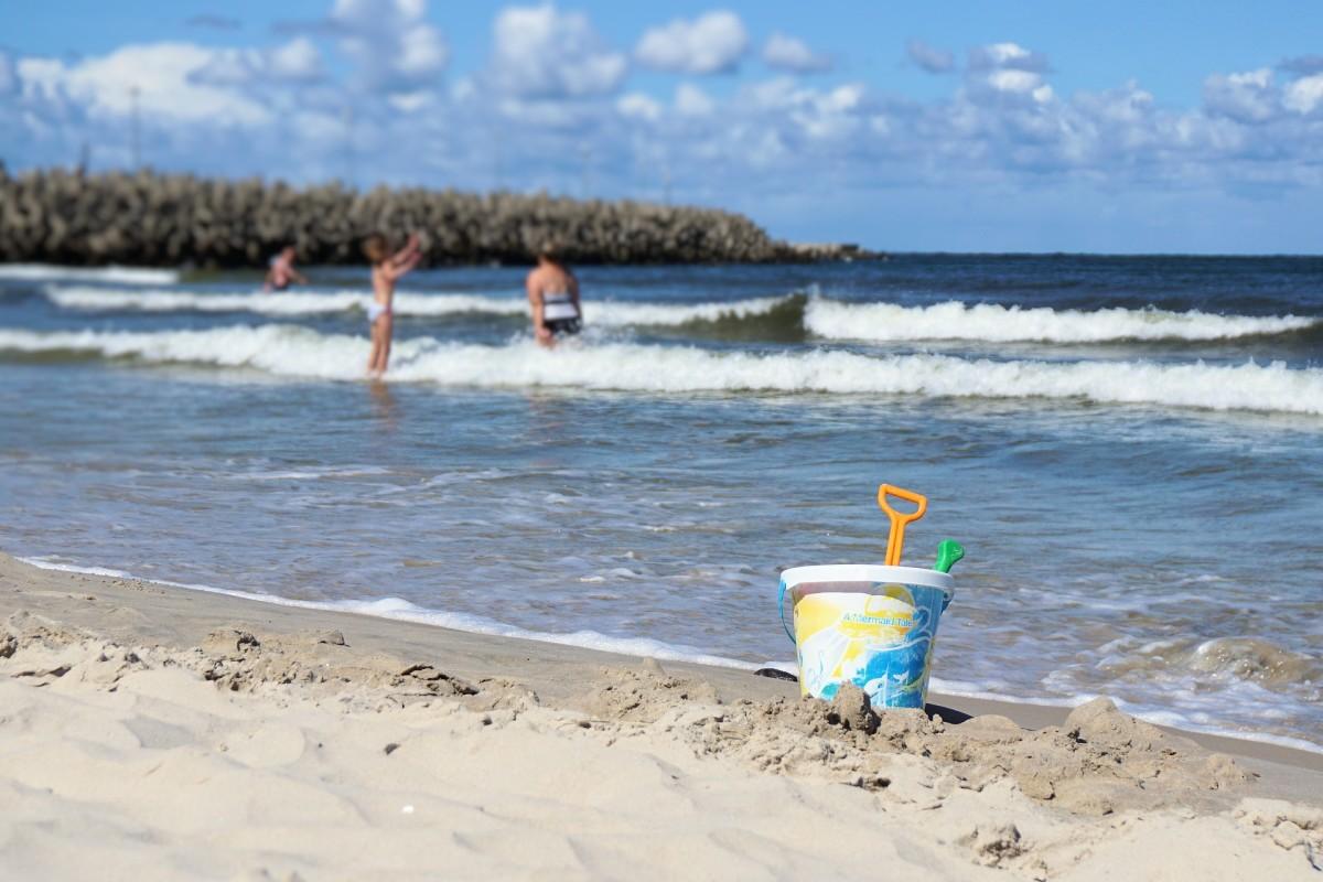 beach, swimming