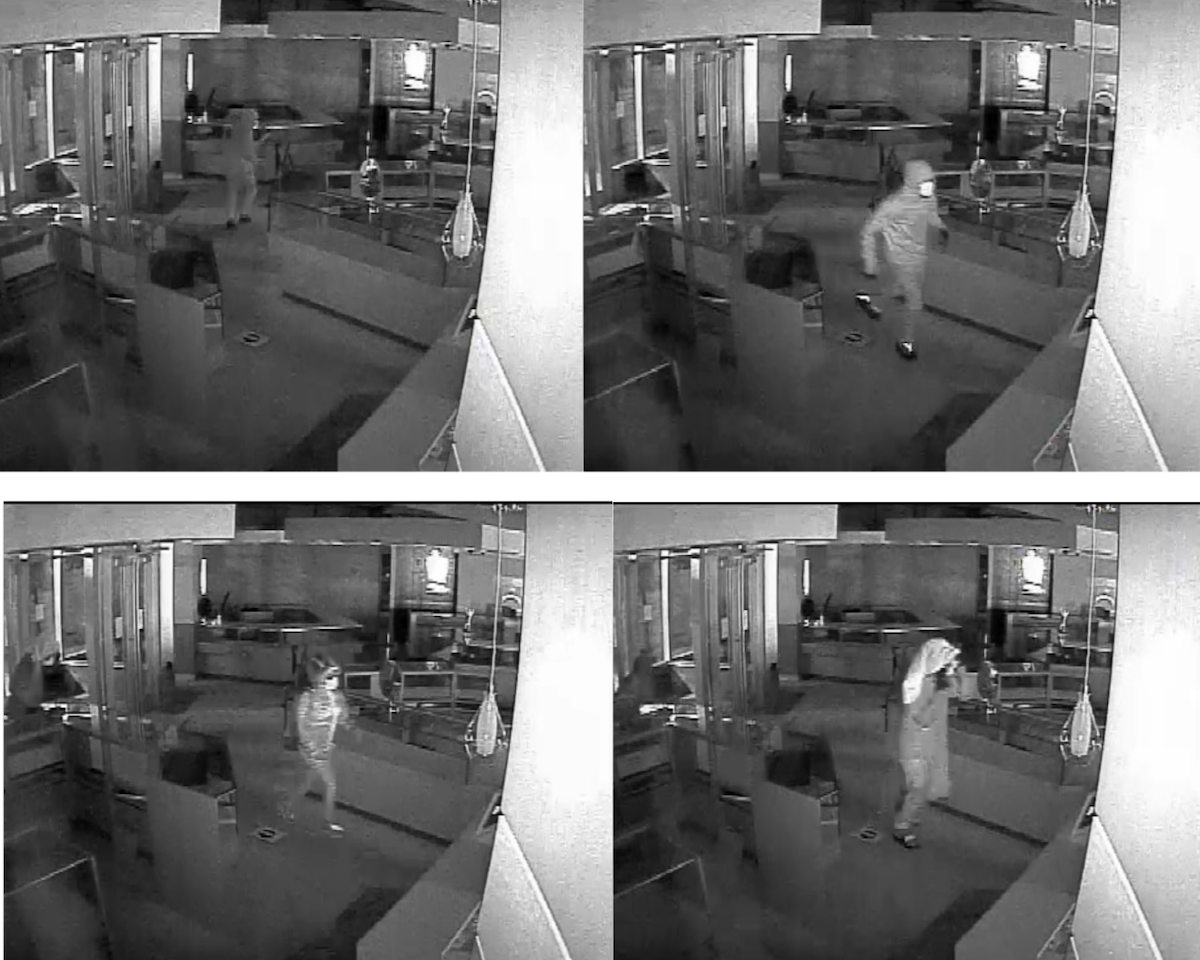 Photos of suspects in the jewelry store burglary.