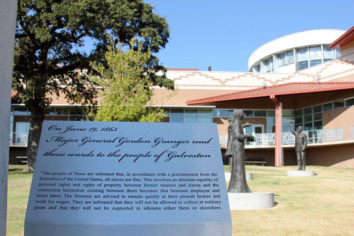 The Juneteenth Memorial in Austin, Texas.