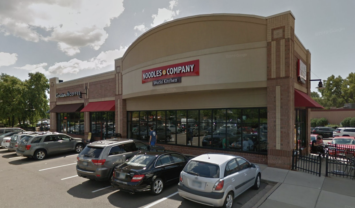 Noodles and Company at Excelsior Boulevard and Lake Street in Minneapolis.