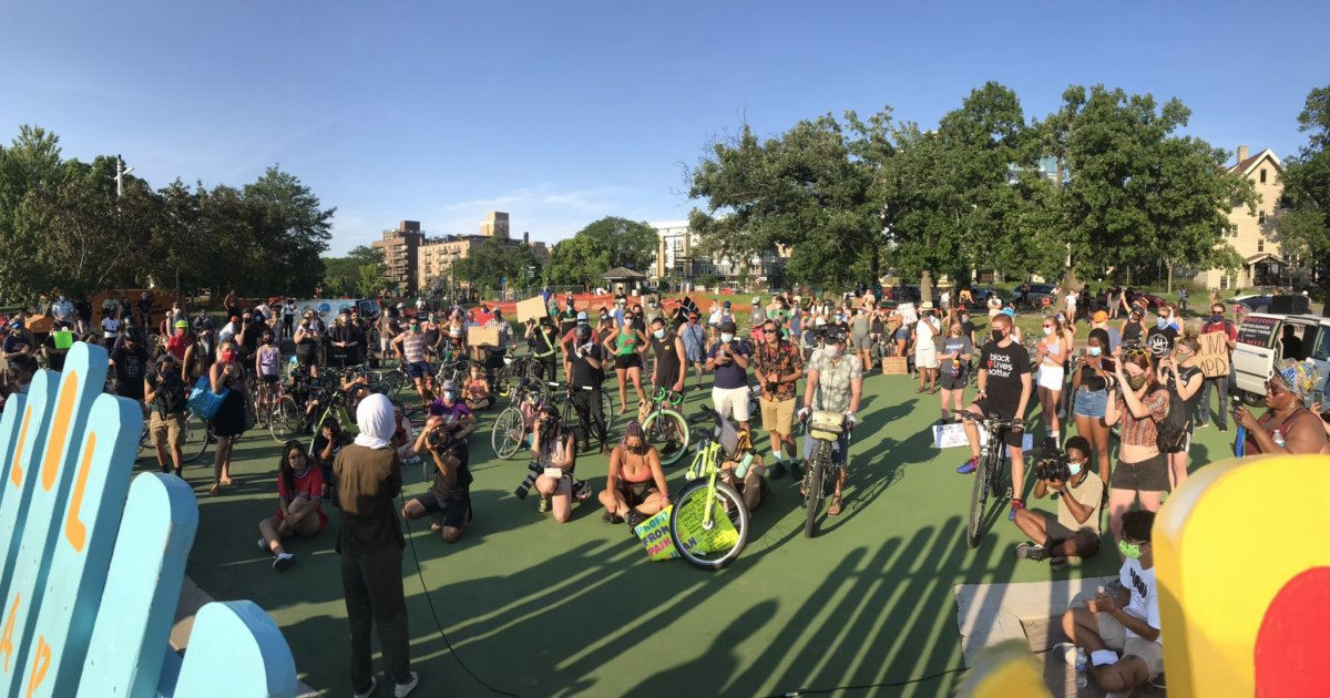 Demonstration/protest in Minneapolis.