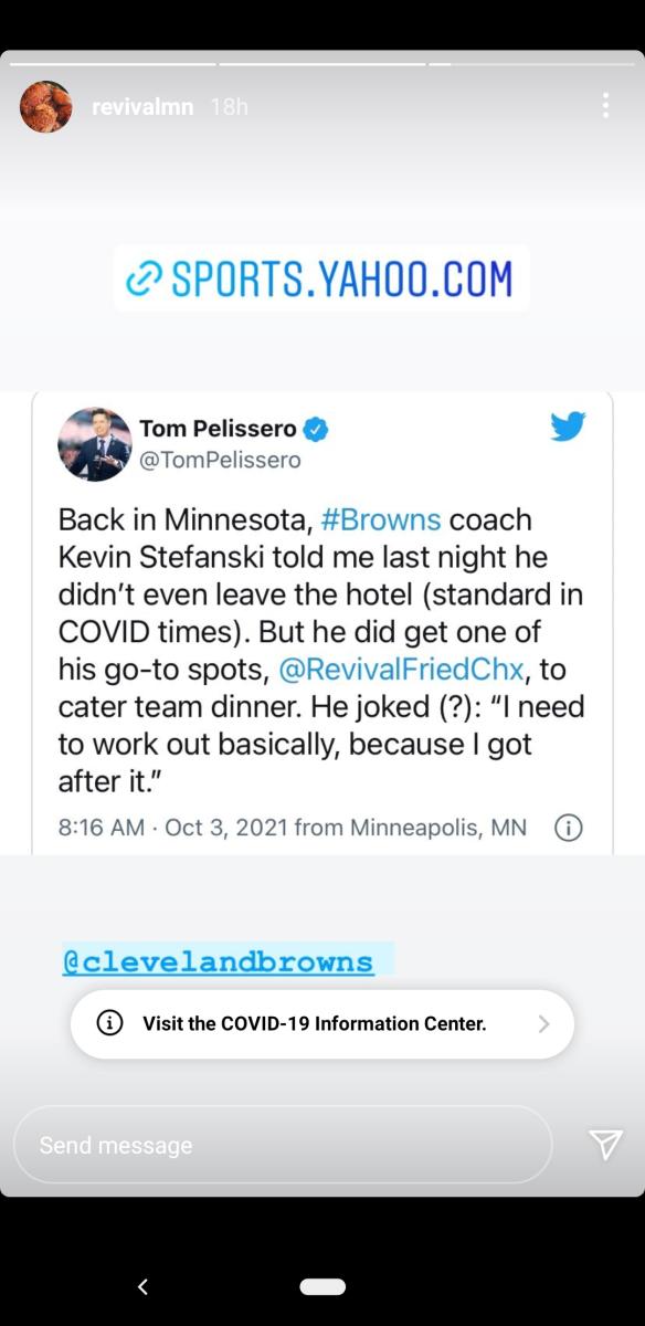 Revival - Stefanski tweet share screengrab