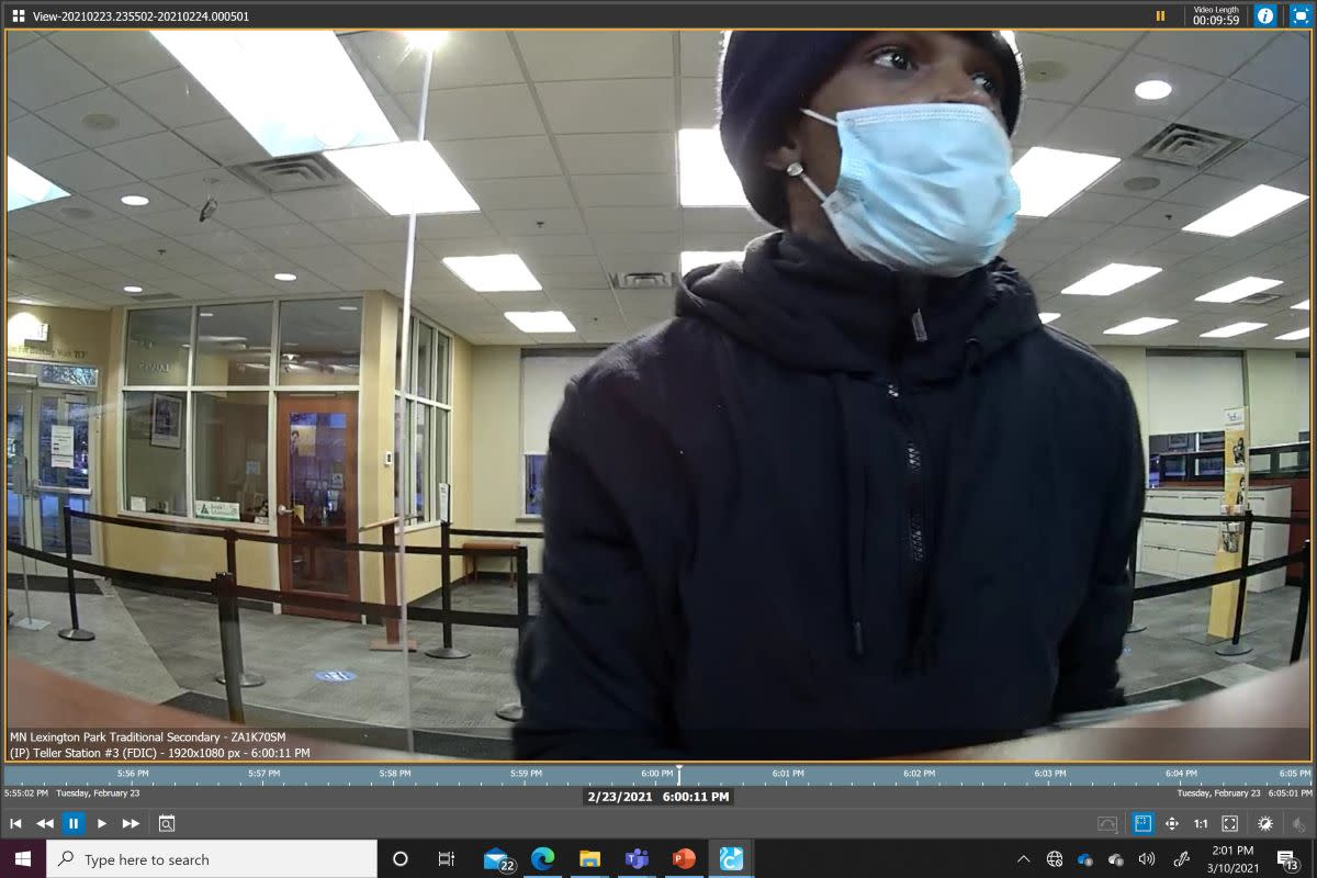 st. paul bank robbery suspect