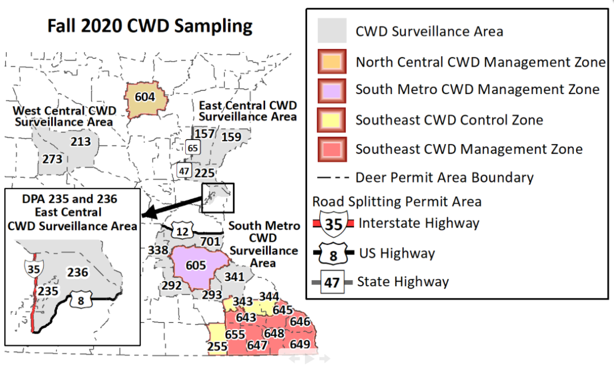 CWD suveillance and management zones
