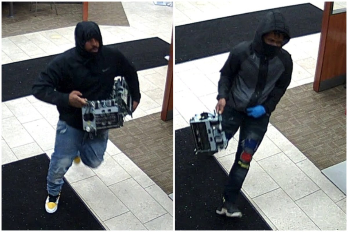 Brooklyn Park bank robbery suspects.