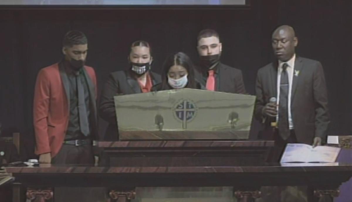 daunte wright funeral - siblings