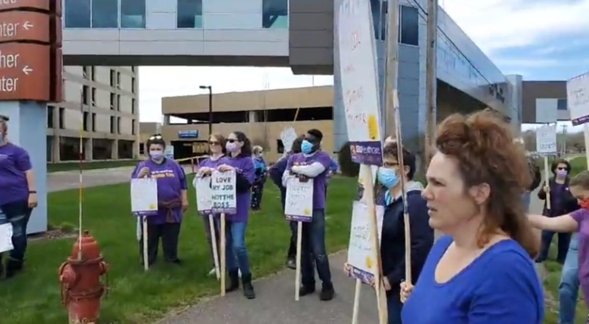 SEIU healthcare allina workers strike