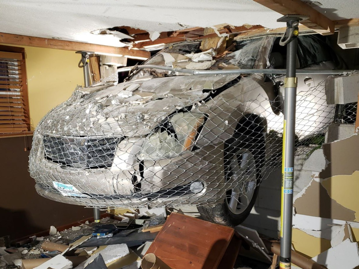 Rochester Fire Department Twitter - car crash photos
