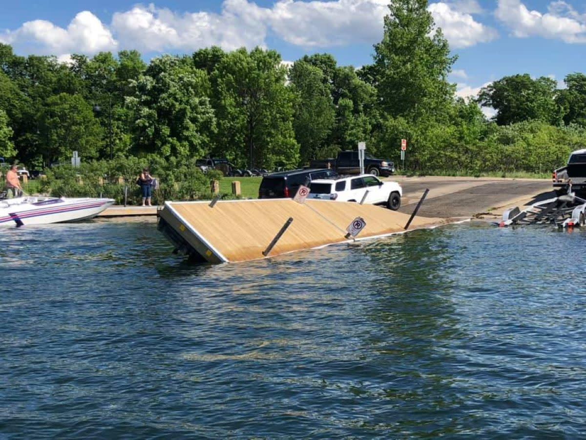 broken dock grays bay lake minnetonka