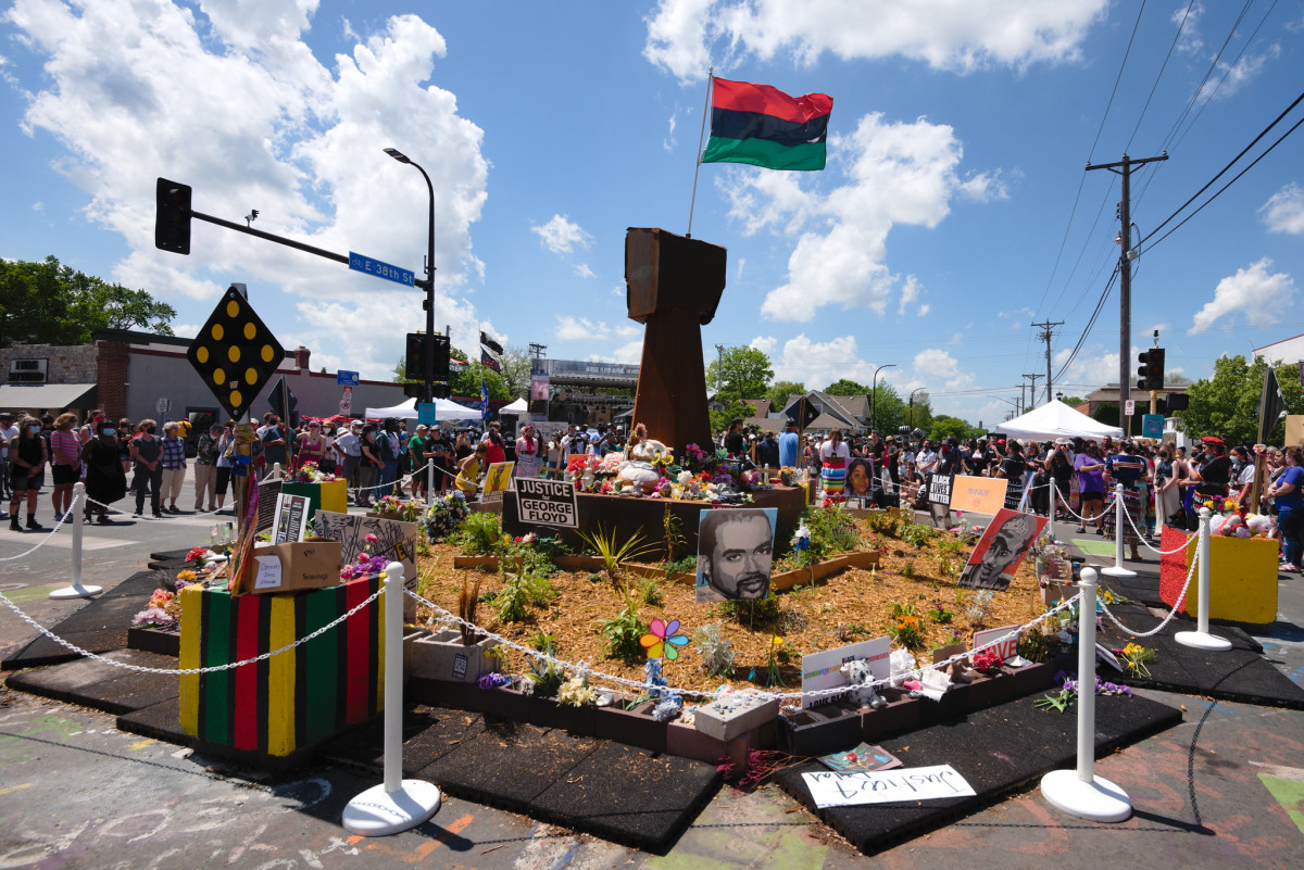 George Floyd Square before Thursday.