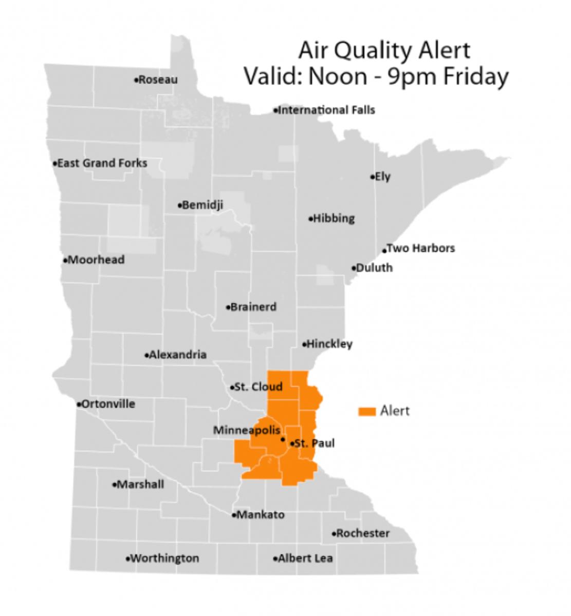 air quality alert mn