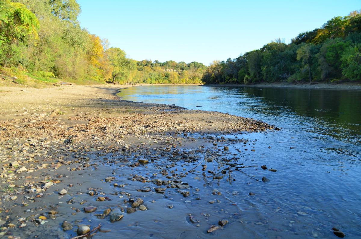 The Mississippi River near Hidden Falls Regional Park in St. Paul.