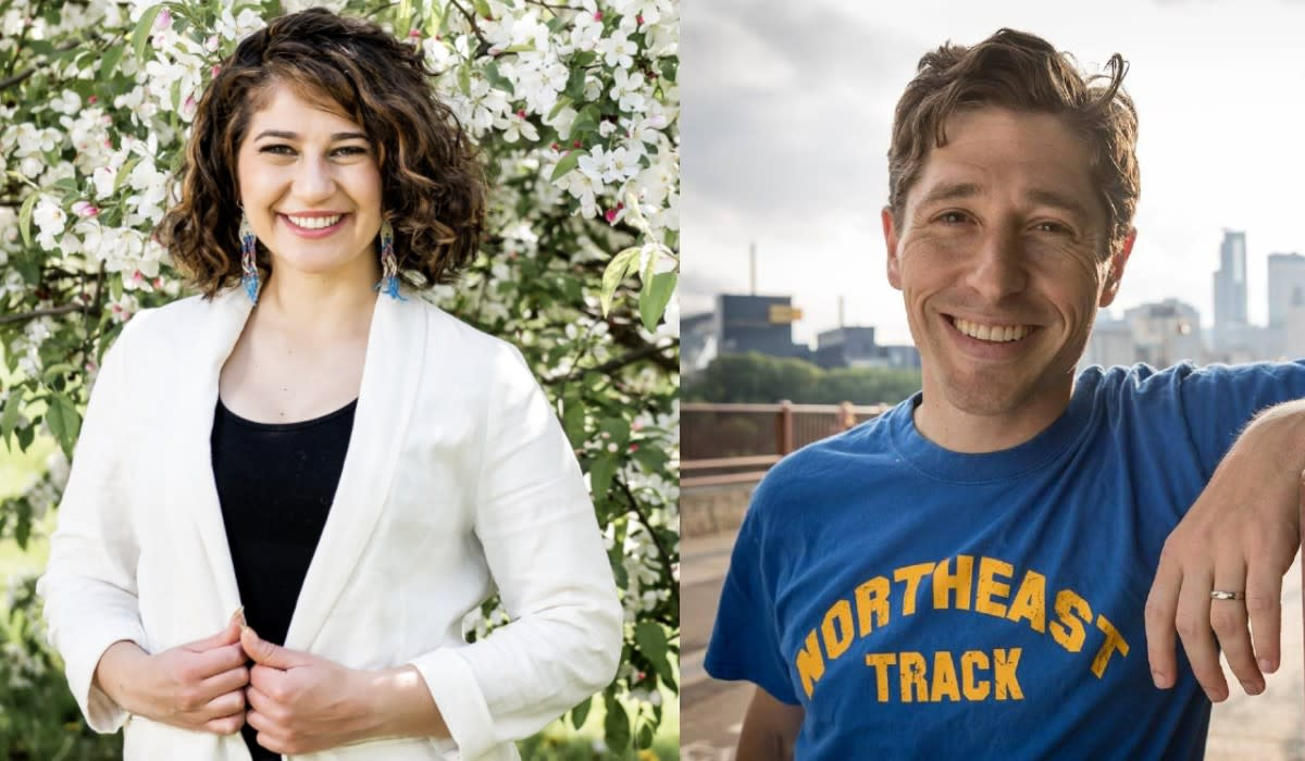 Sheila Nezhad, left, and Jacob Frey finished first and second, respectively, in the DFL's endorsement process.