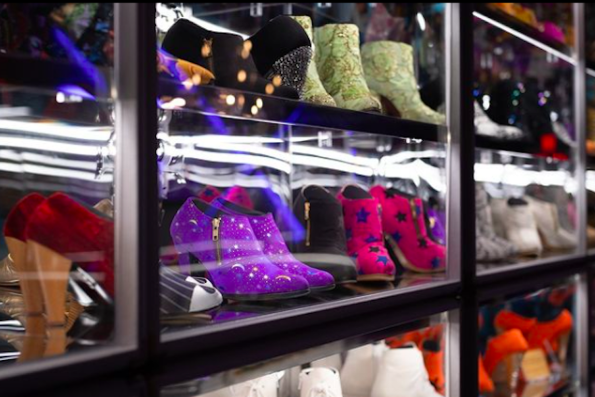 Prince's shoe collection.