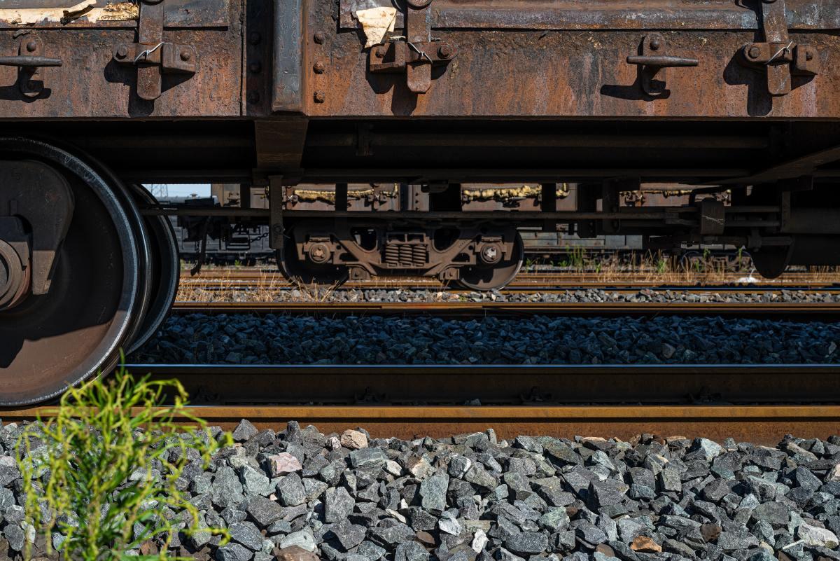 freight train railroad tracks