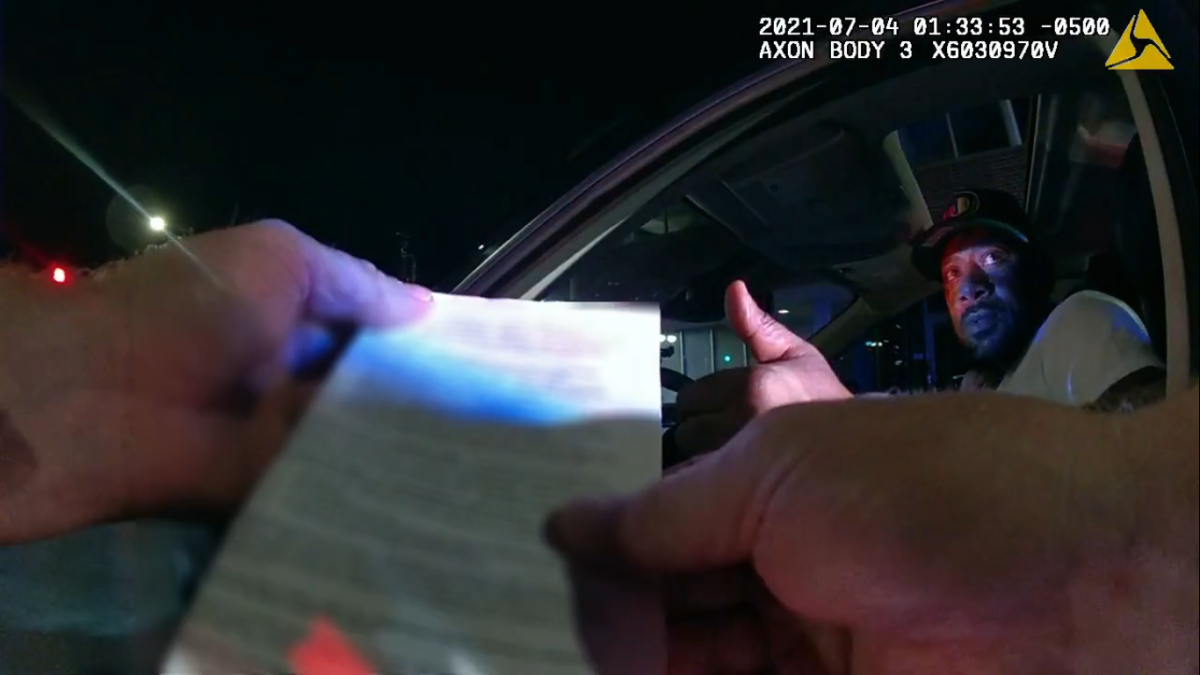 St. Paul police body cam - John Thompson screengrab