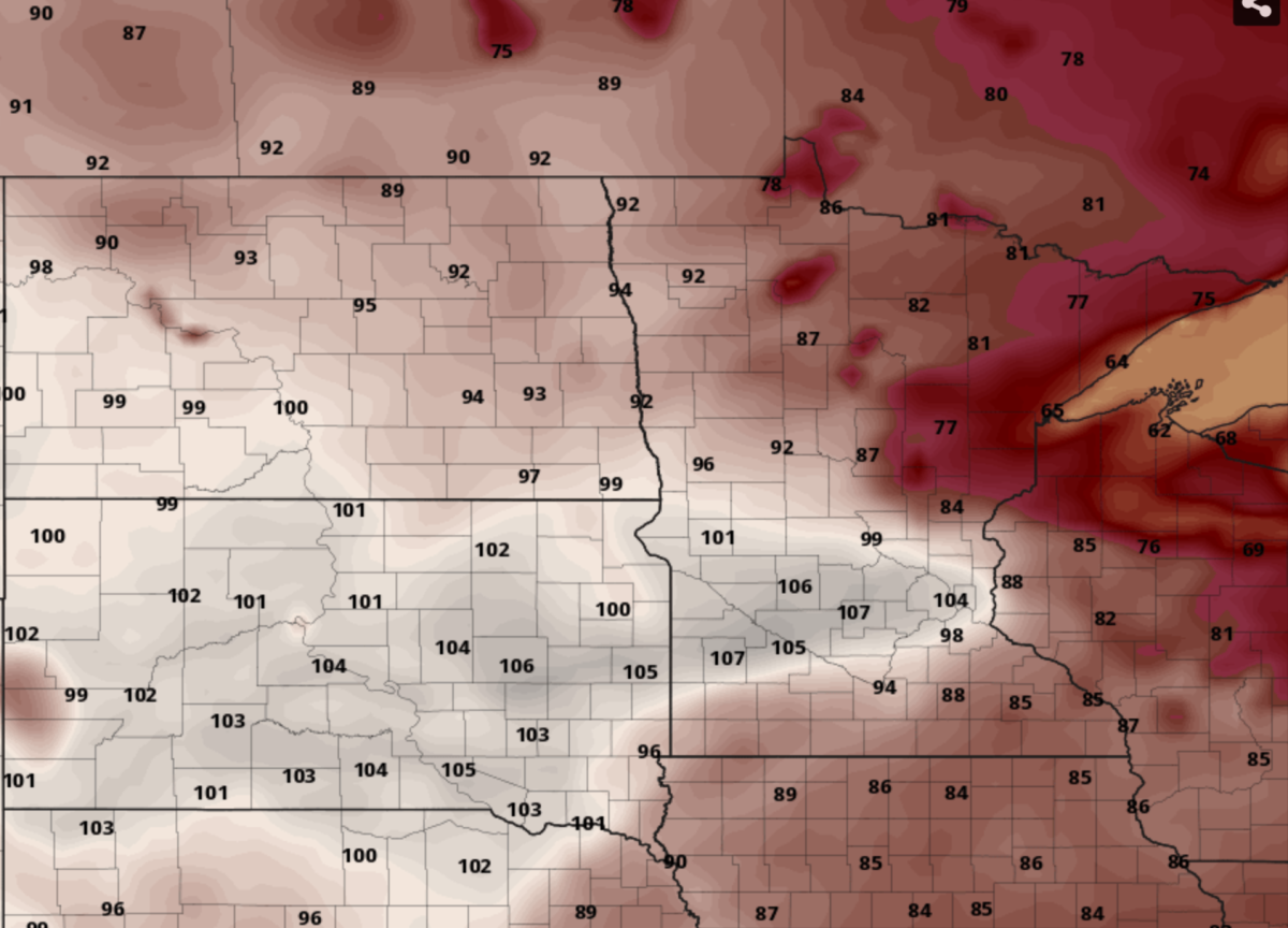 Will next week get as hot as the American model suggests it could? It's possible, though unlikely.